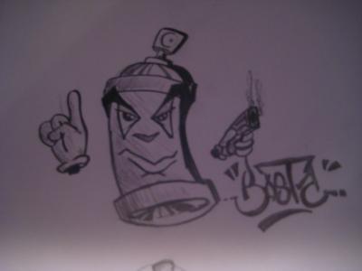 Bombe custom de converse graff tag dessin en - Bombe de graffiti ...